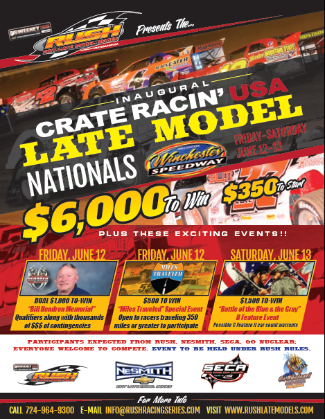 RUSH Dirt Late Model Series - Presented by Sweeney Cars!